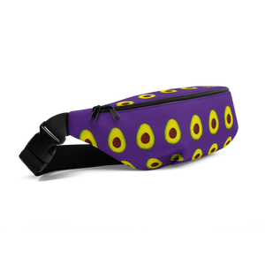 avocado purple kids fanny pack side