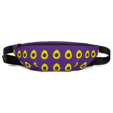 Load image into Gallery viewer, avocado purple kids fanny pack front
