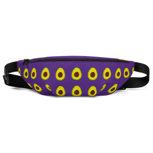 avocado purple kids fanny pack front