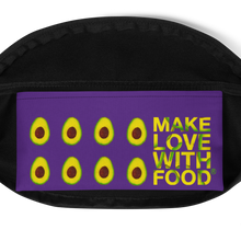 Load image into Gallery viewer, avocado purple kids fanny pack inside pocket