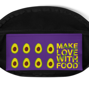 avocado purple kids fanny pack inside pocket