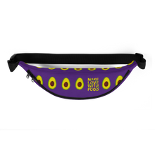 Load image into Gallery viewer, avocado purple kids fanny pack top