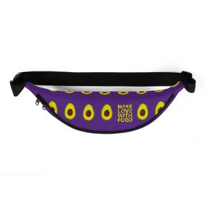 avocado purple kids fanny pack top