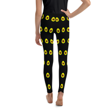 Load image into Gallery viewer, Avocado Youth and Kids Leggings black back