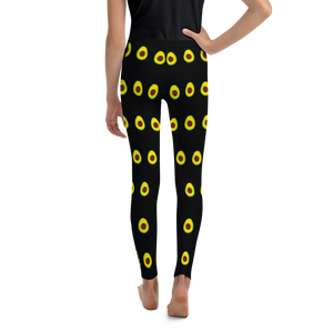 Avocado Youth and Kids Leggings black back
