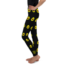 Load image into Gallery viewer, Avocado Youth and Kids Leggings black side