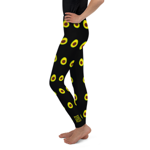 Avocado Youth and Kids Leggings black side