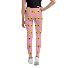Load image into Gallery viewer, Avocado Youth and Kids Leggings pink back