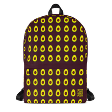 Load image into Gallery viewer, Avocado Kids and Toddler Maroon Backpack Front