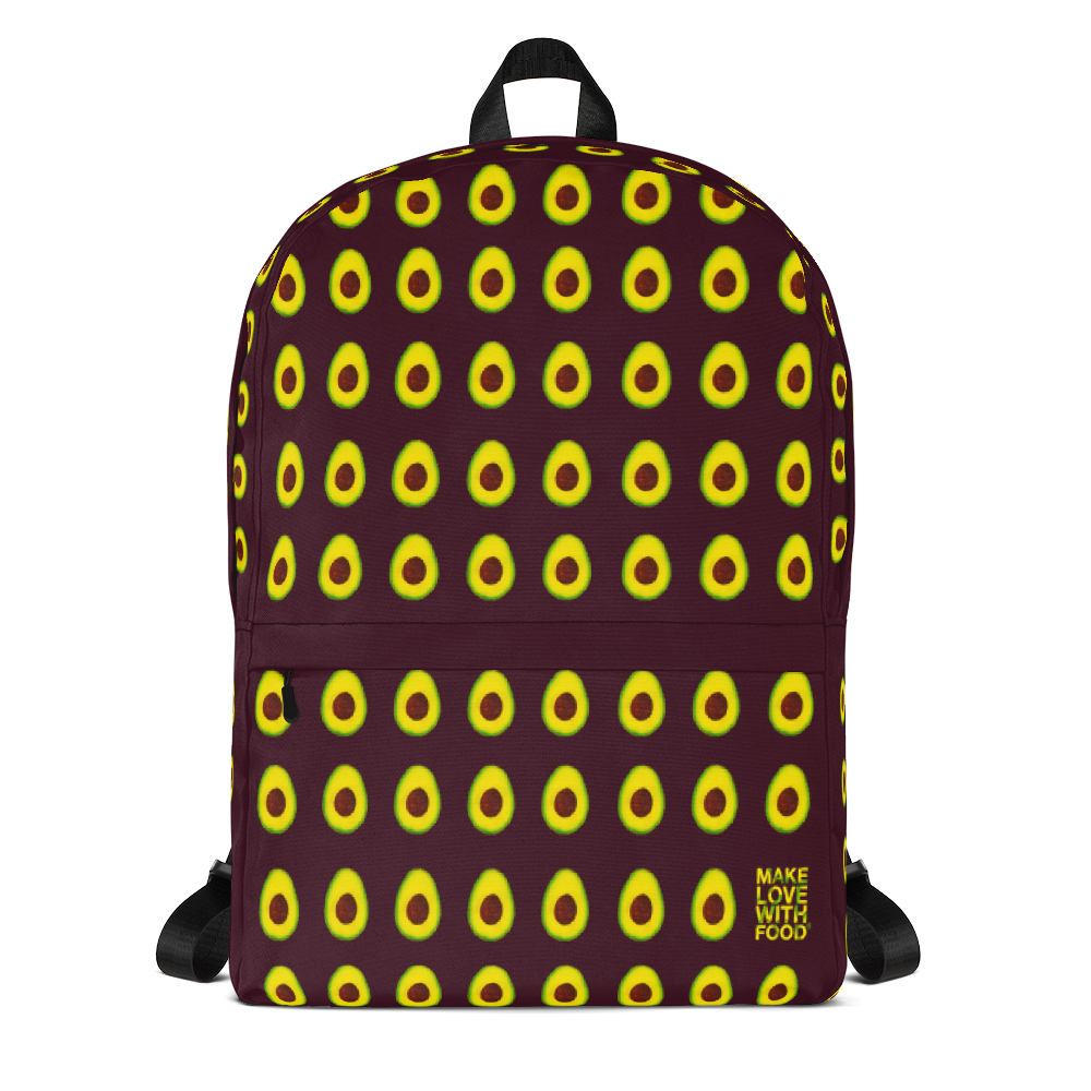Avocado Kids and Toddler Maroon Backpack Front
