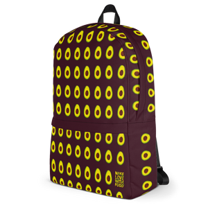 Avocado Kids and Toddler Maroon Backpack side