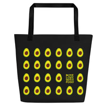 Load image into Gallery viewer, Black Avocado Women's Large Beach Bag