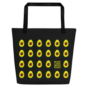 Black Avocado Women's Large Beach Bag