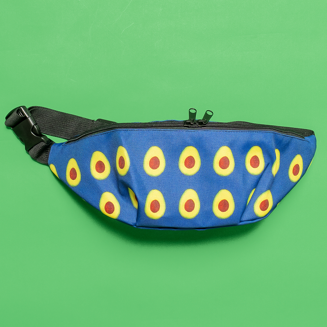 avocado blue kids fanny pack front