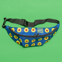 Load image into Gallery viewer, avocado blue kids fanny pack top