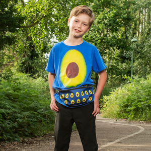 Avocado Youth Cotton Short Sleeve T Shirt blue Front
