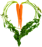 Carrot Heart Long Sleeve Women's Tee by JF Organic Farms - Make Love With Food  - 4