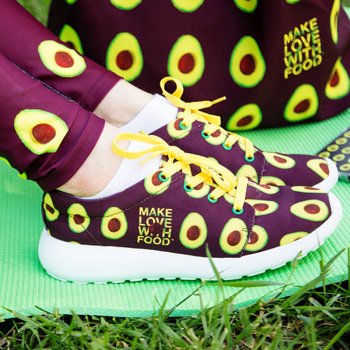 maroon avocado sports shoes women's shoes