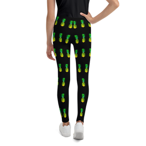 Pineapple Youth and Kids Leggings Black back