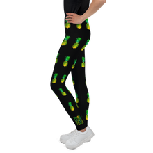 Load image into Gallery viewer, Pineapple Youth and Kids Leggings Black side