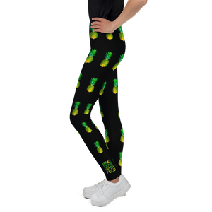 Pineapple Youth and Kids Leggings Black side