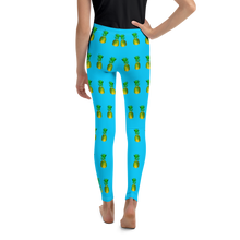 Load image into Gallery viewer, Pineapple Youth and Kids Leggings Blue Black