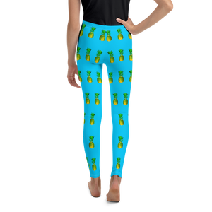 Pineapple Youth and Kids Leggings Blue Black