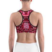 Load image into Gallery viewer, Pomegranate Root Chakra Women's Yoga Sports Bra back