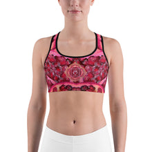 Load image into Gallery viewer, Pomegranate Root Chakra Women's Yoga Sports Bra front