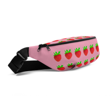 Load image into Gallery viewer, Strawberry Fanny Pack side