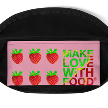 Load image into Gallery viewer, Strawberry Fanny Pack inside pocket
