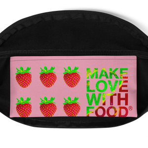 Strawberry Fanny Pack inside pocket