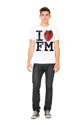 I Love Farmers Market Strawberry Men's Tee - Make Love With Food  - 1
