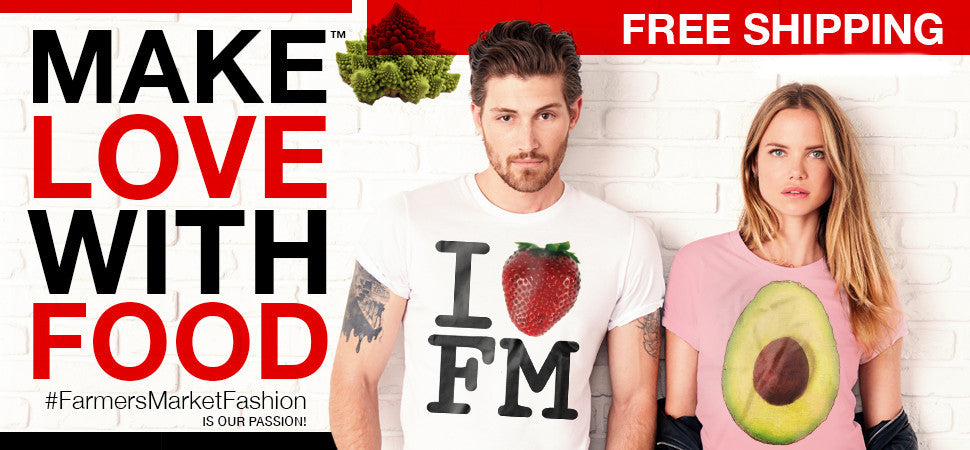 Make Love With Food Free Shipping Banner