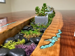 Succulent garden Drake table