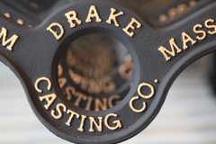 drake casting table leg raised lettering