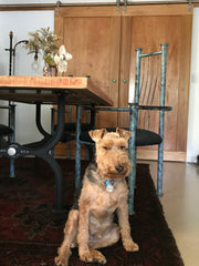 Drake Casting Co Dining Table and Dog Finn