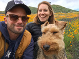Christian and Katie Lund and dog Finn
