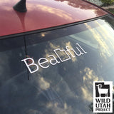 wild utah beautahful decal