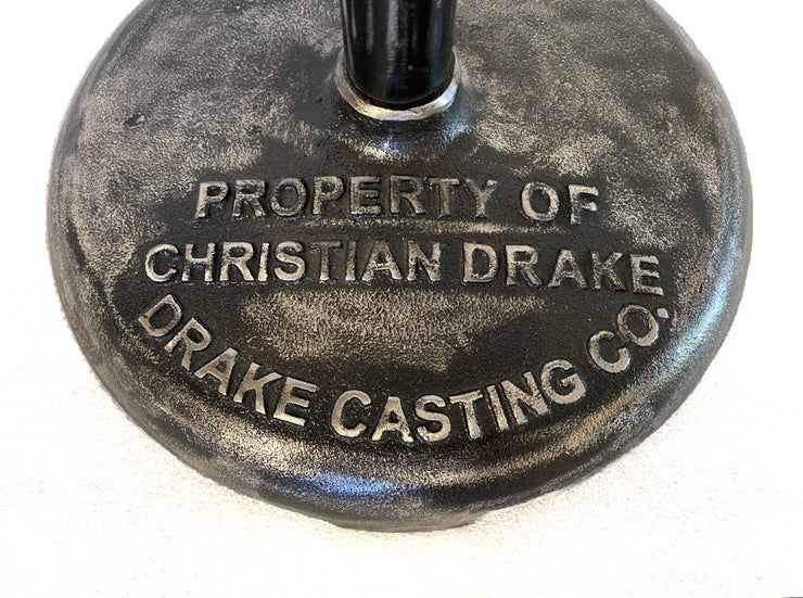 Property of Christian Drake Barbell Pedestal CUSTOM HEIGHTS
