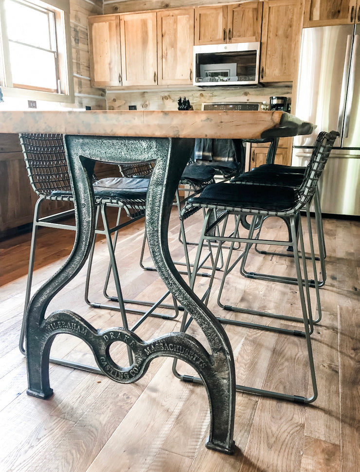 Weathered Kitchen Counter Classic Drake Table Legs