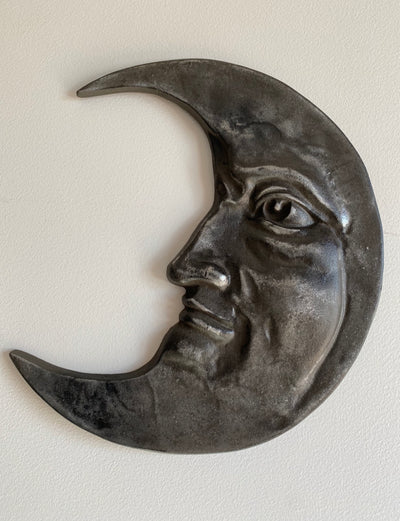 Cast Crescent Moon Wall Piece