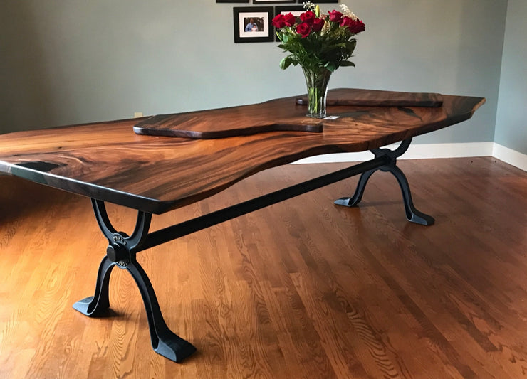 "Generation ""X"" Dining Table Trestle Base Cast Iron"