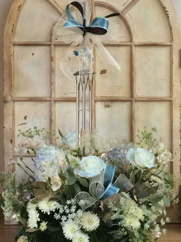 Wind Chimes and Flowers