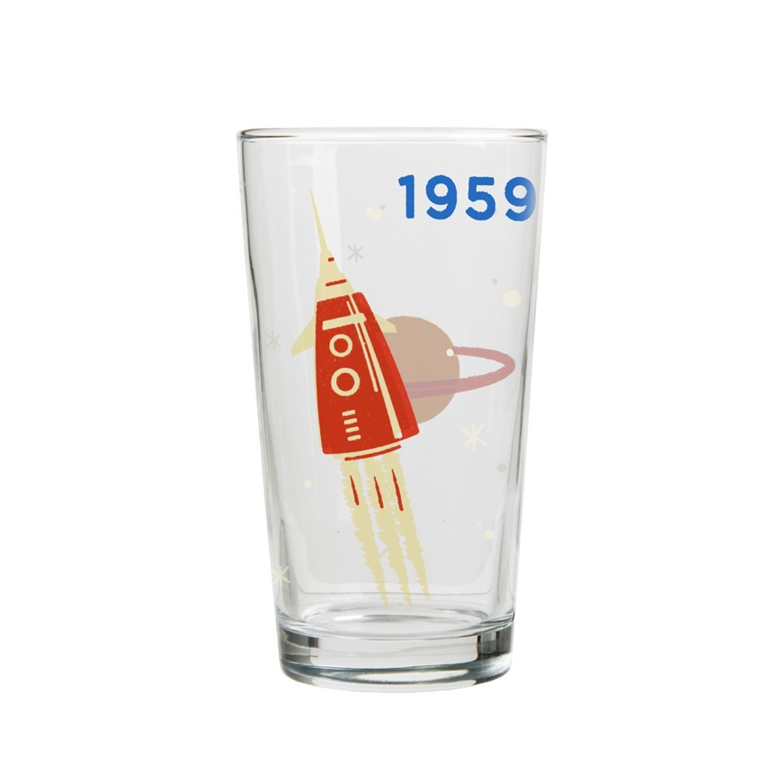 1959 cosmos glass cup