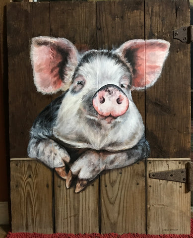 Pig on the door
