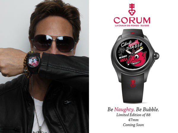 Corum watch Nelson De La Nuez partnership bubble watch collection King of Pop Art Popland gallery club diablo luxury