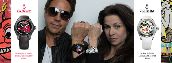 Corum watch Nelson De La Nuez partnership bubble watch collection King of Pop Art Popland gallery