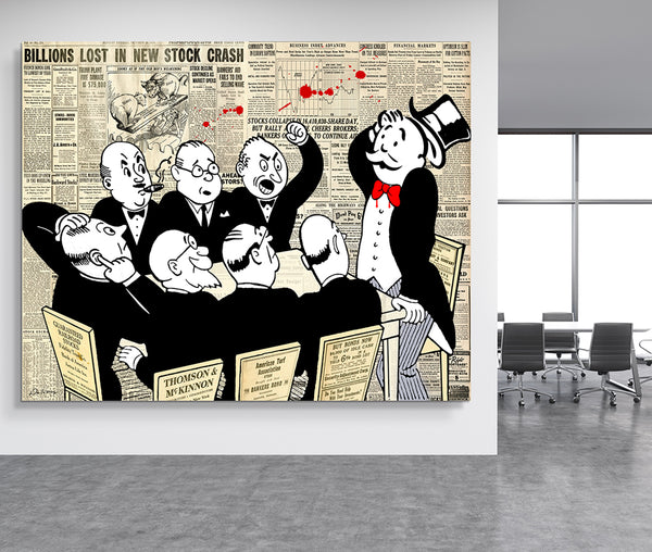 board room panic nelson de la nuez popland studios the king of pop art