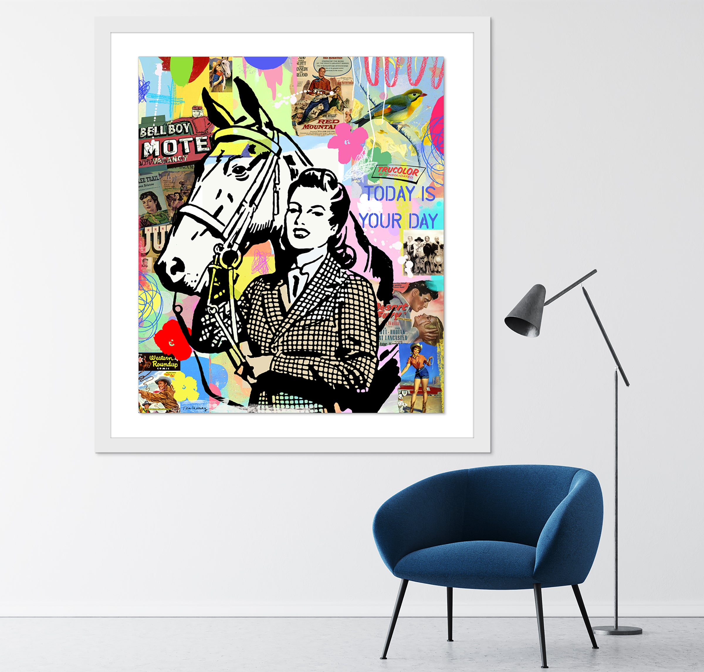 Equestrian Dream horse art contemporary art pop artist nelson de la nuez